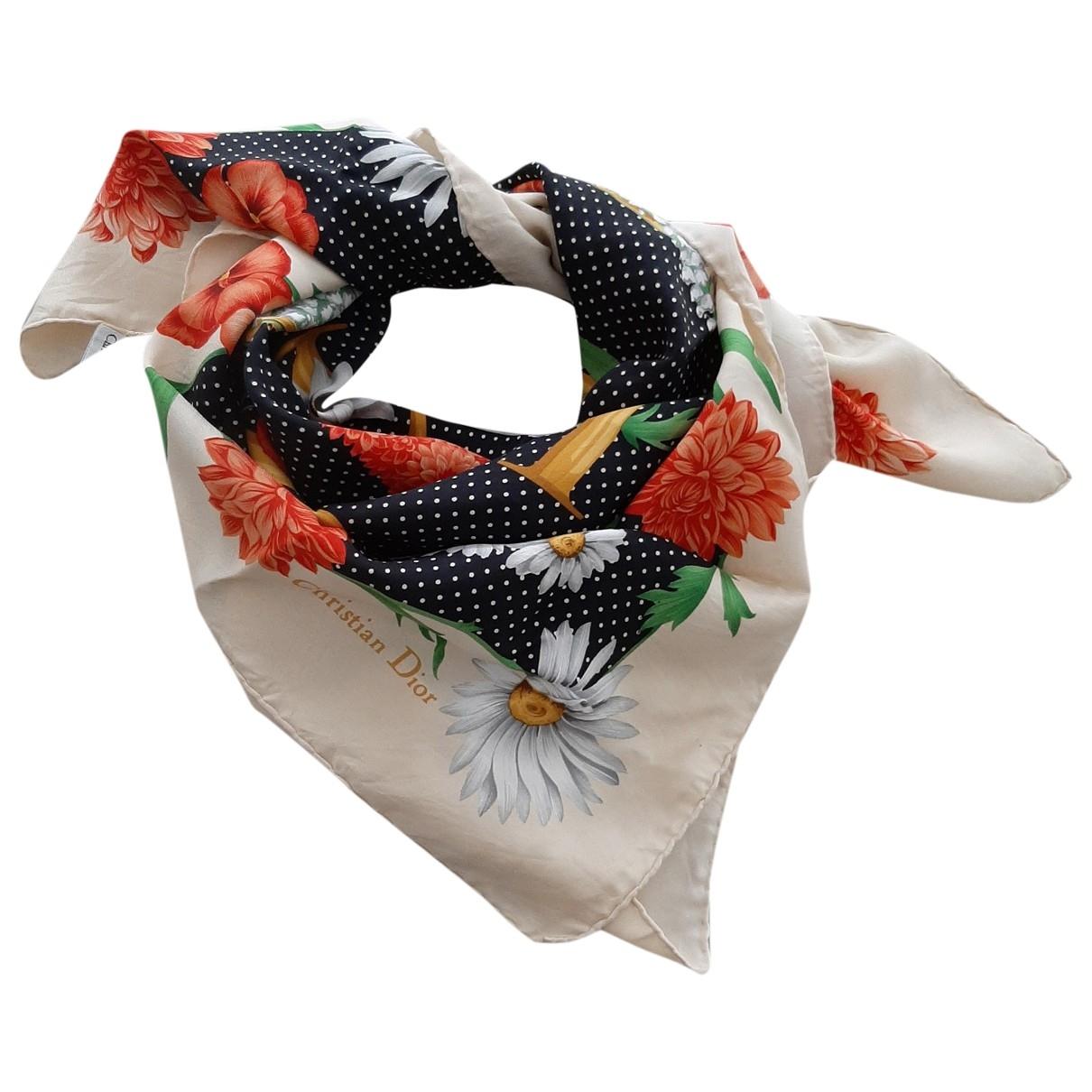 Dior \N Black Silk Silk handkerchief for Women \N