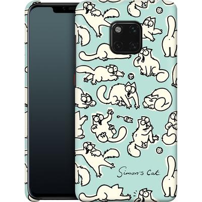 Huawei Mate 20 Pro Smartphone Huelle - Simon´s Cat Green Pattern von Simons Cat