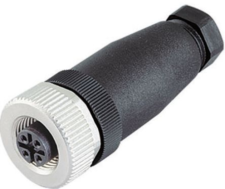 Binder Connector, 3 contacts Cable Mount M12 Plug, Screw IP67