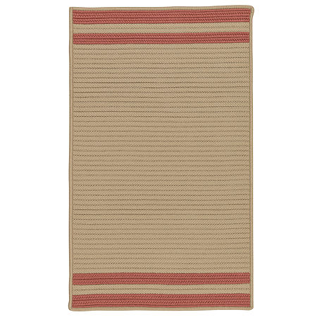 Colonial Mills Sonoma Accent Stripe Braided Rectangular Reversible Indoor/Outdoor Rugs, One Size , Red