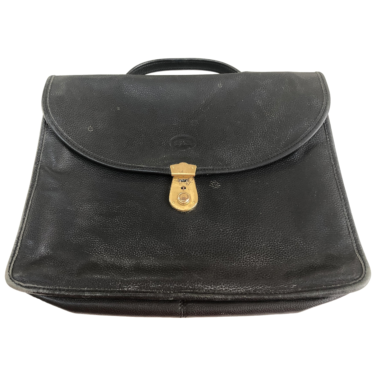 Longchamp \N Clutch in  Schwarz Leder