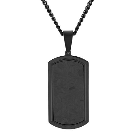 Mens Stainless Steel Dog Tag Pendant, One Size , No Color Family