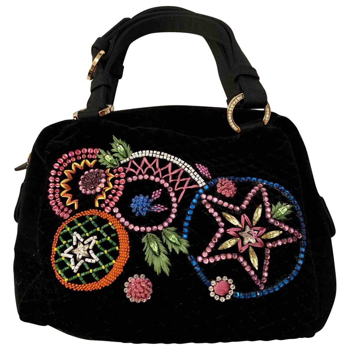 Gianni Versace \N Handtasche in  Schwarz Samt