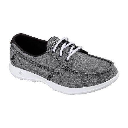 Skechers Go Walk Lite - Isla Womens Walking Shoes Wide Width, 8 1/2 Wide, Black