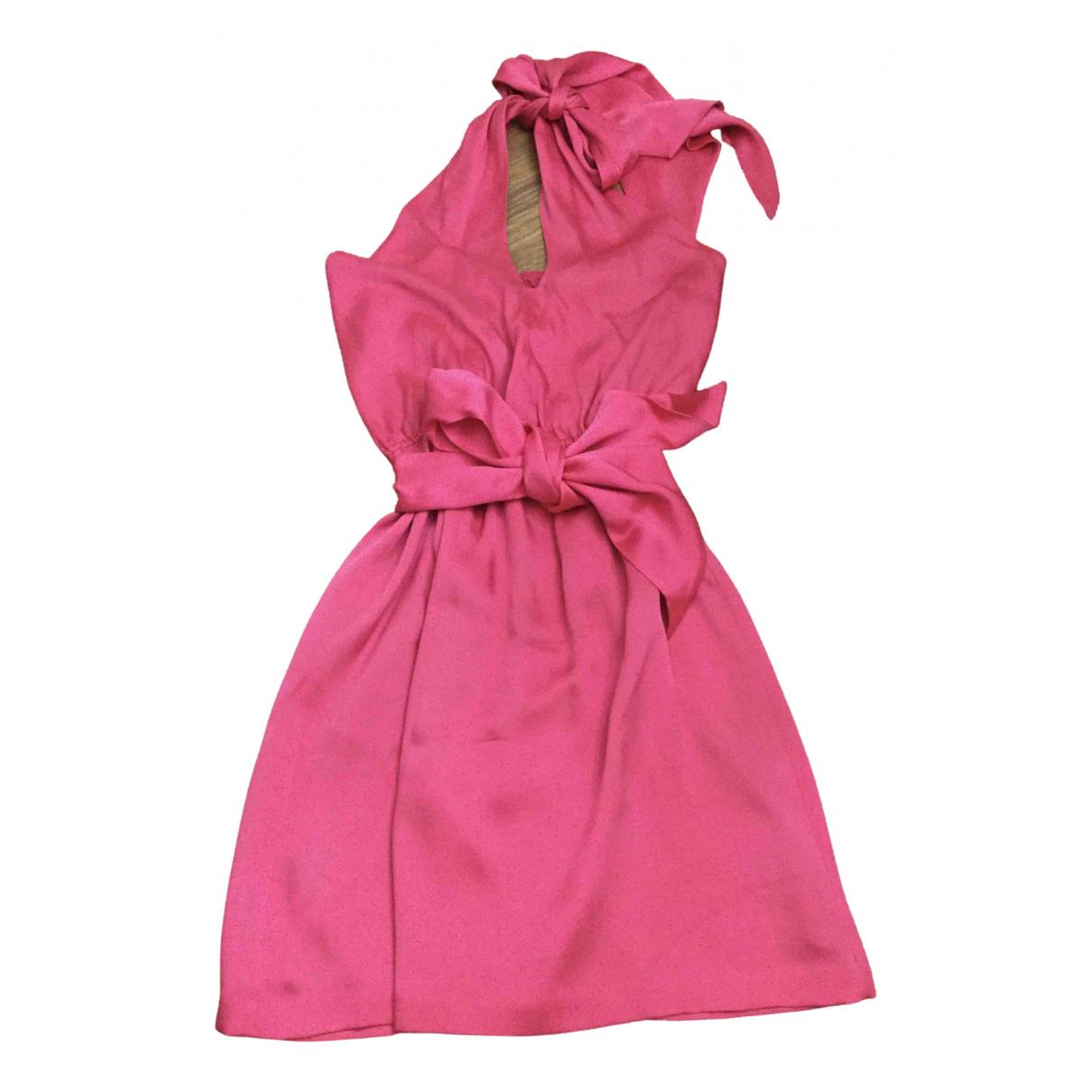 Halston Heritage - Robe   pour femme en soie - rose
