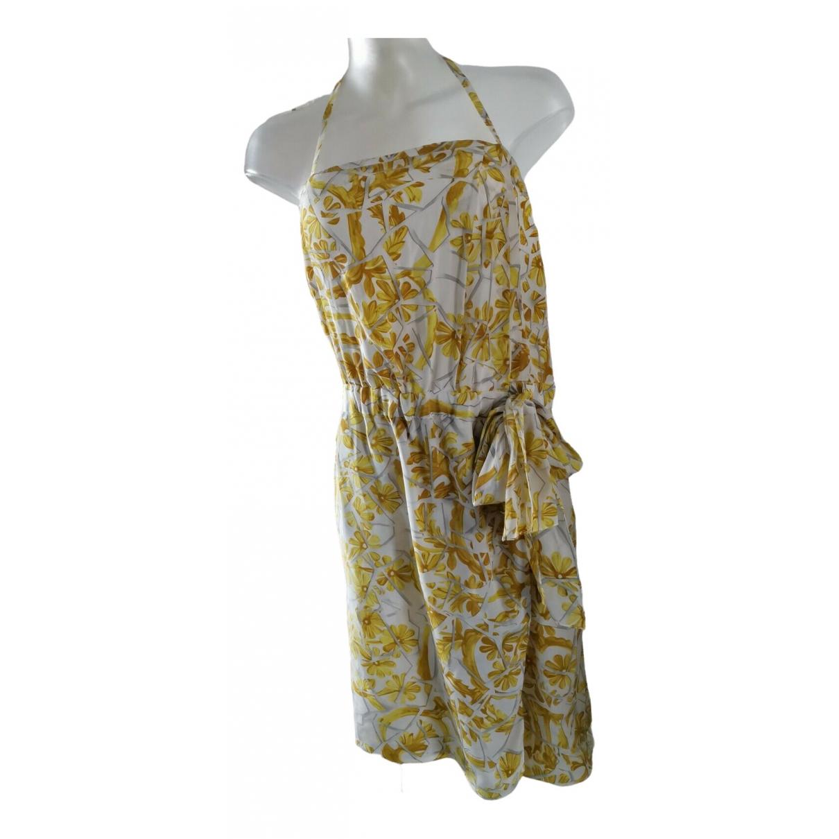 Gucci \N Kleid in  Gelb Seide