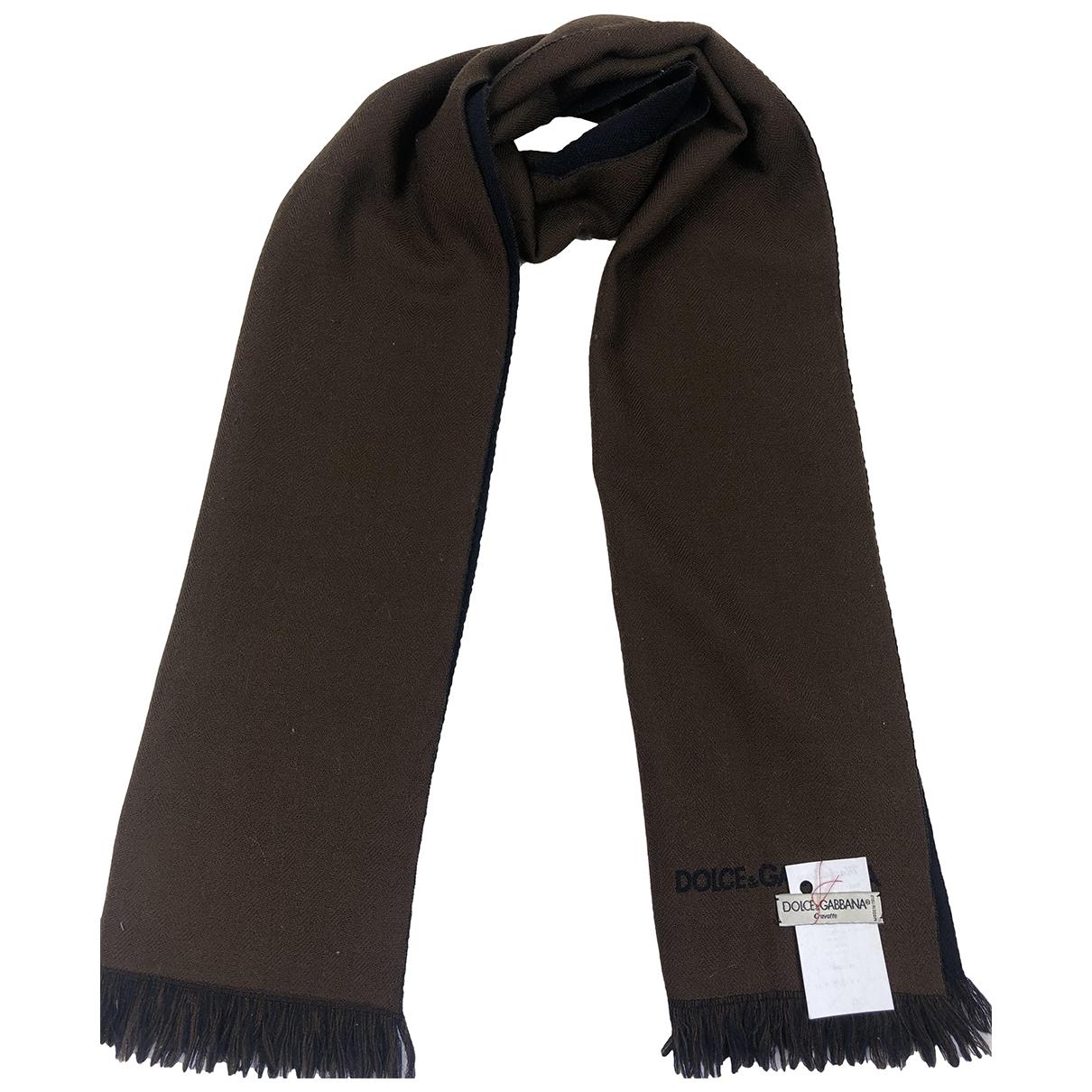 Dolce & Gabbana \N Schal in  Braun Wolle