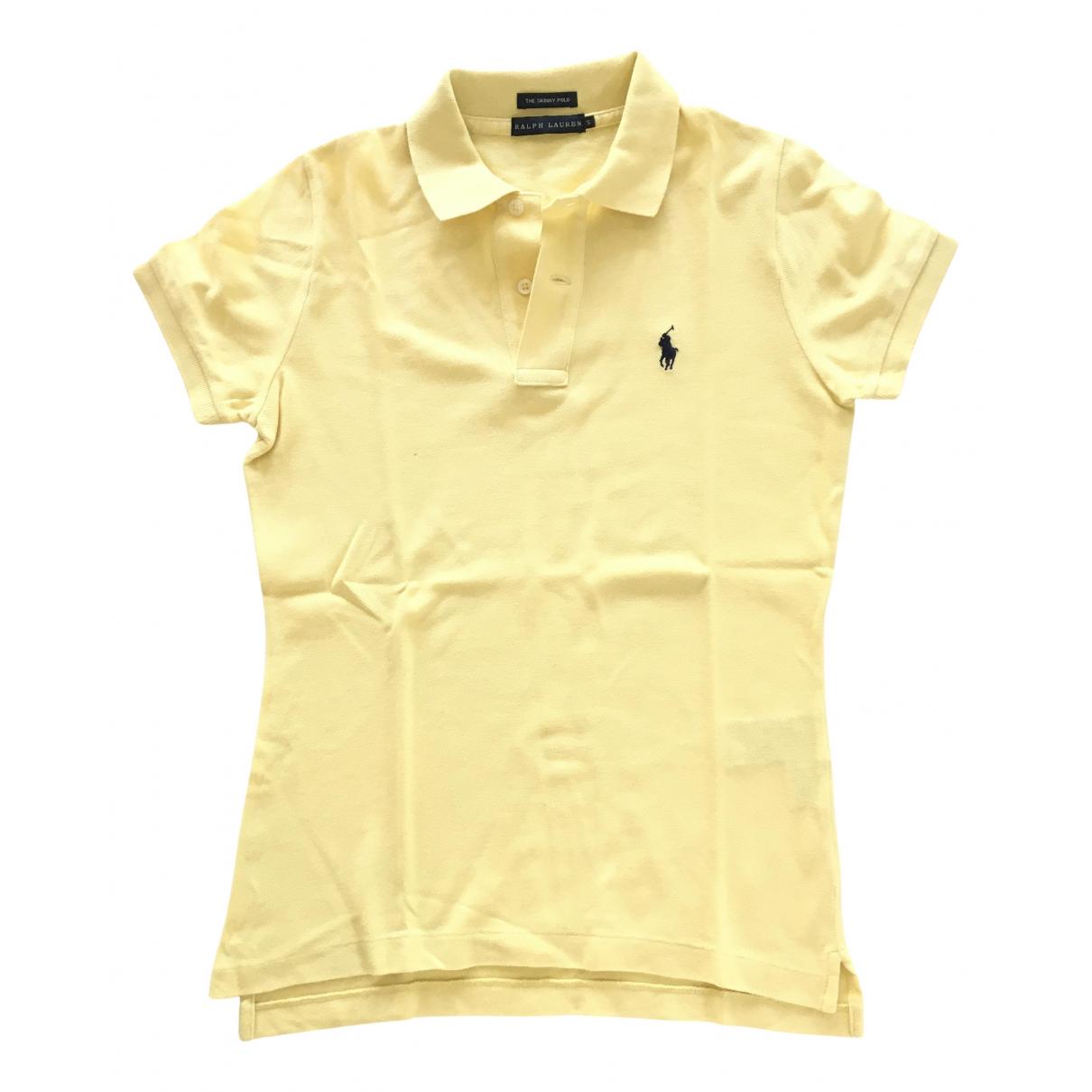Ralph Lauren - Top   pour femme en coton - jaune