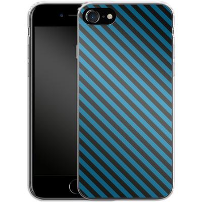 Apple iPhone 8 Silikon Handyhuelle - Stripes von caseable Designs