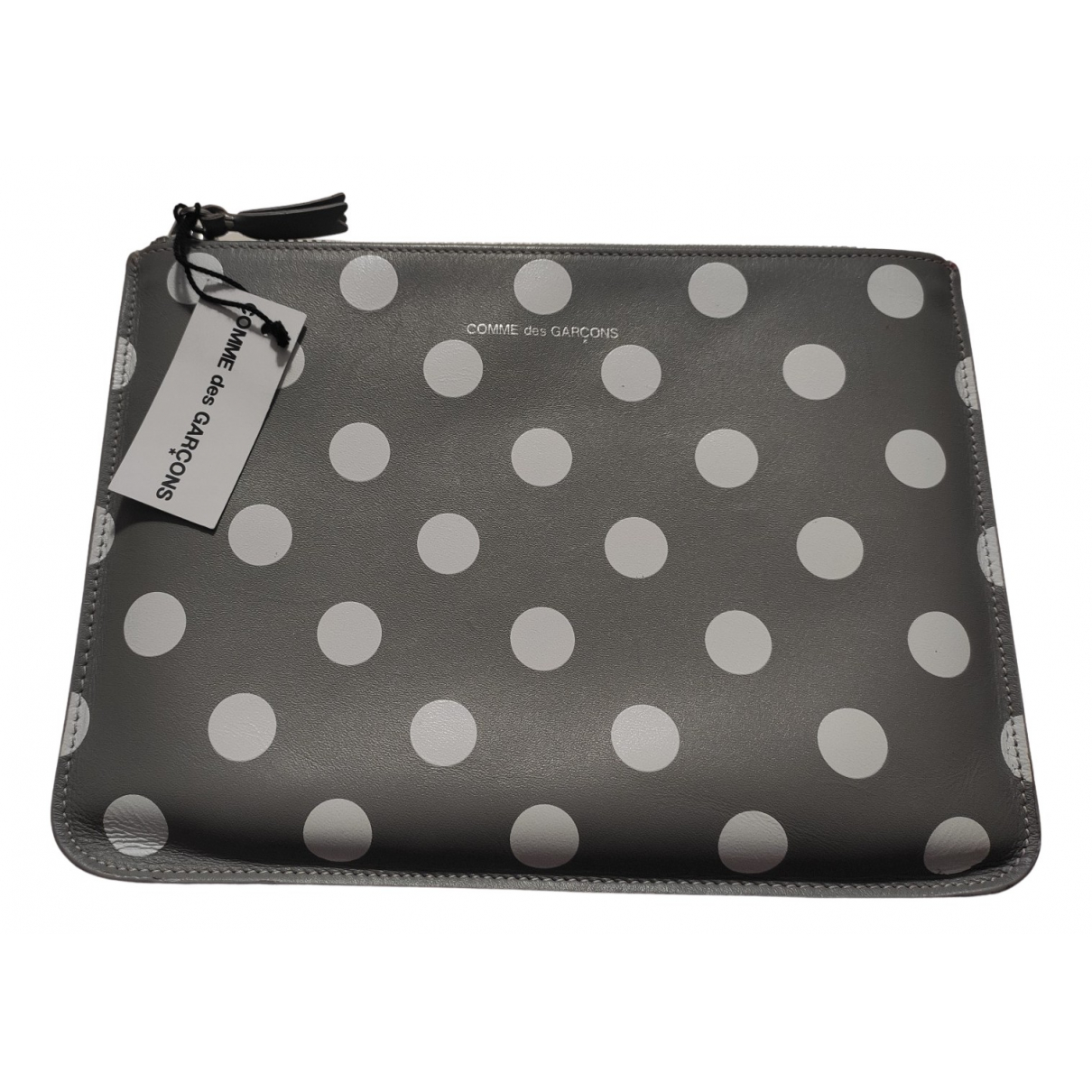 Comme Des Garcons N Grey Leather Purses, wallet & cases for Women N