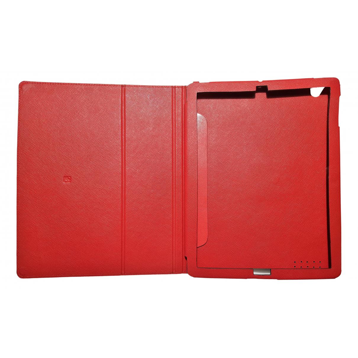 Carolina Herrera - Bijoux de portable   pour femme en cuir - rouge