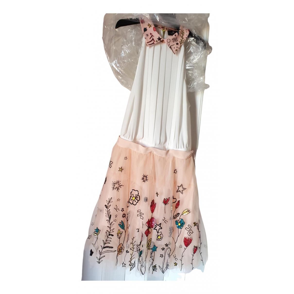 Elisabetta Franchi - Robe   pour femme en a paillettes - rose