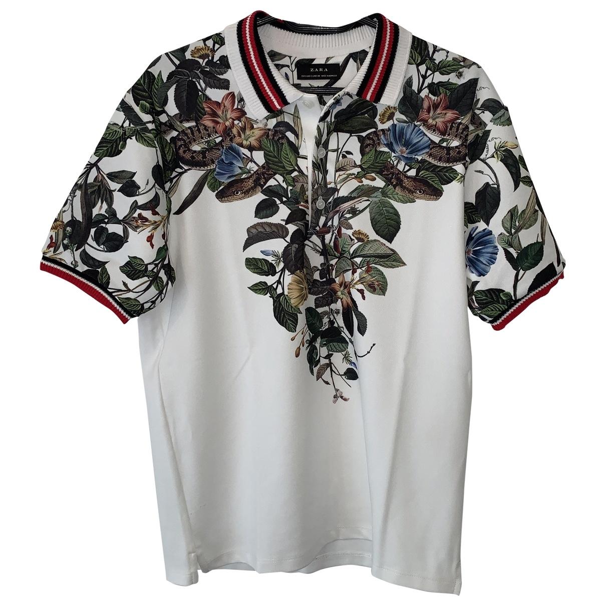 Zara - Polos   pour homme en coton - ecru