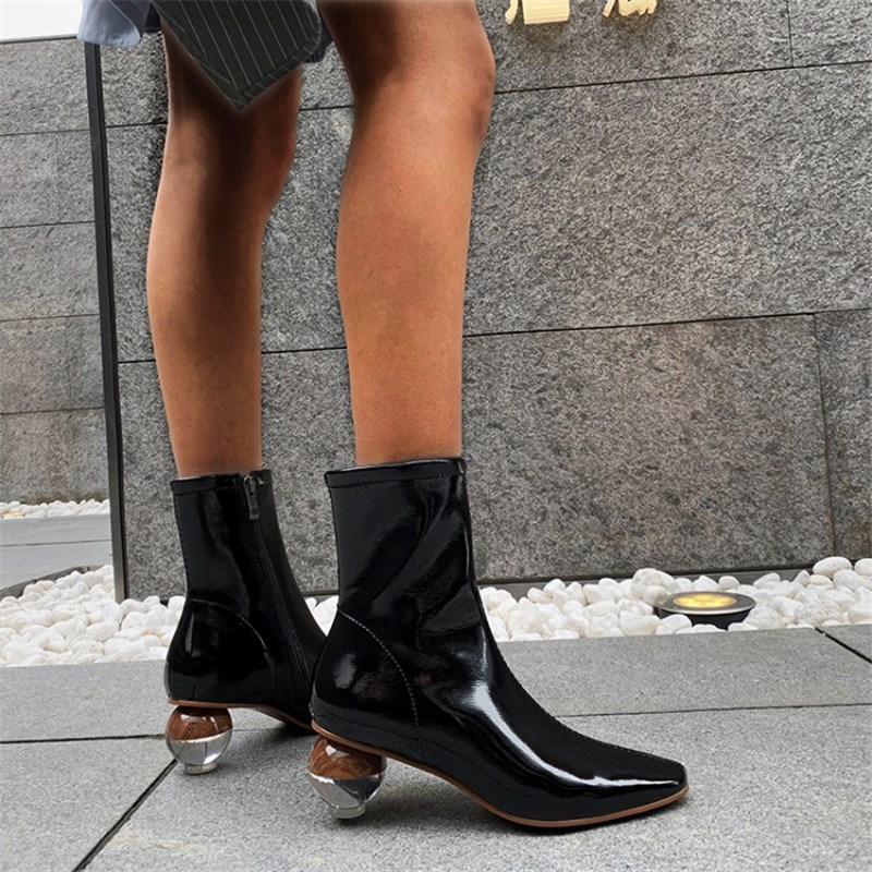 Ericdress Side Zipper Square Toe Plain Thread Boots