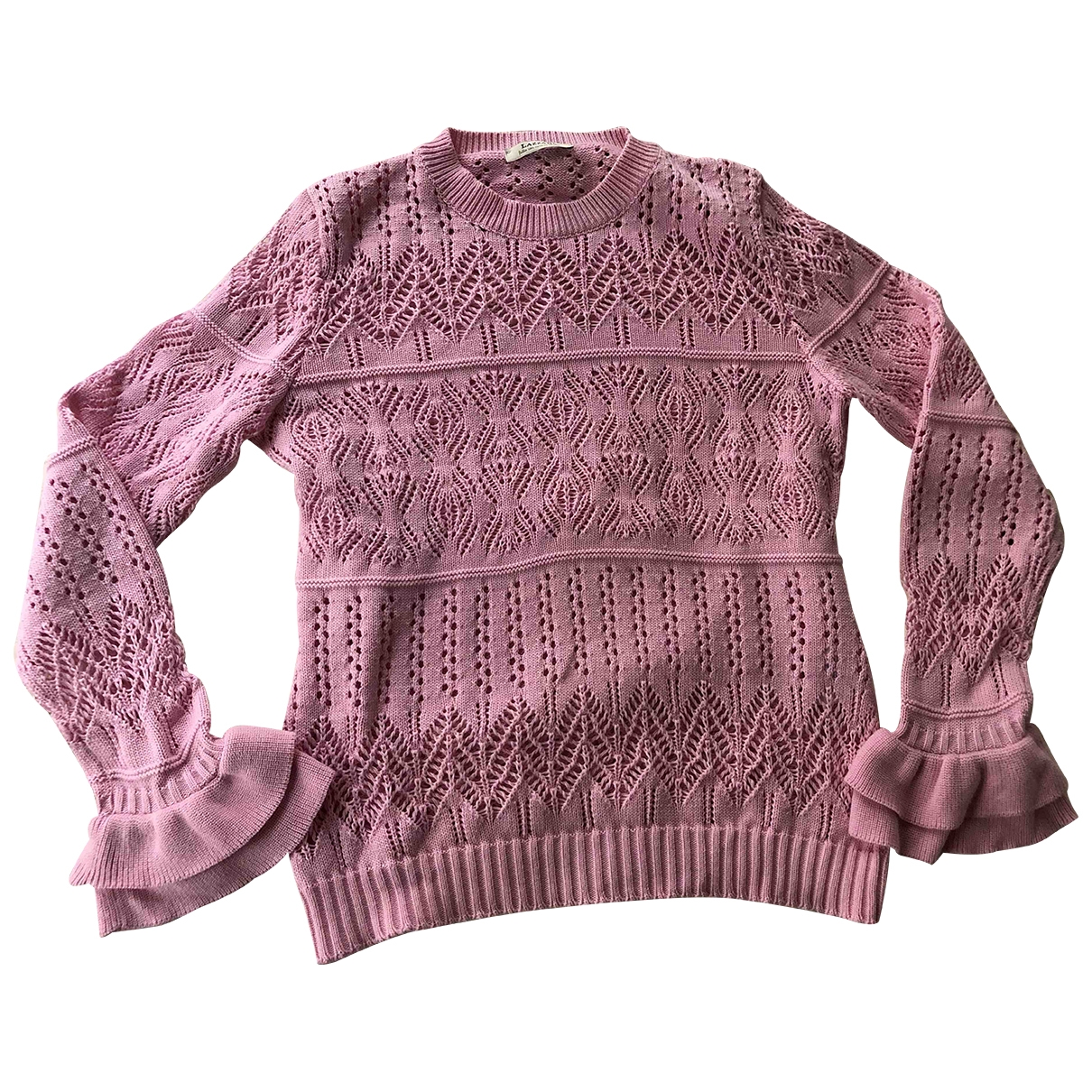 - Pull   pour femme en coton - rose