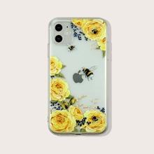 1 Stueck iPhone Schutzhuelle mit Blumen Muster