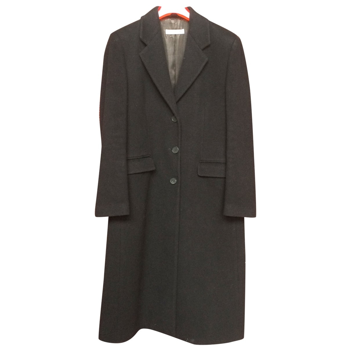 Emporio Armani \N Black Wool coat for Women 44 IT