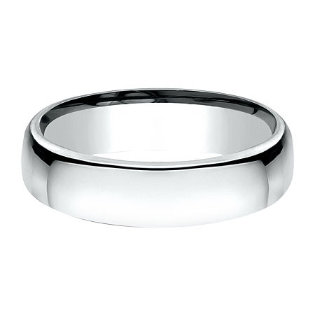 5.5MM 10K White Gold Wedding Band, 7 1/2 , No Color Family