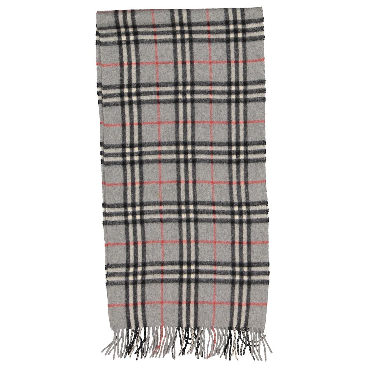 Burberry - Foulard   pour femme en laine - gris