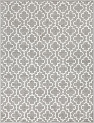 Seville SEV-2318 710 x 102 Rectangle Cottage Rug in Medium Gray