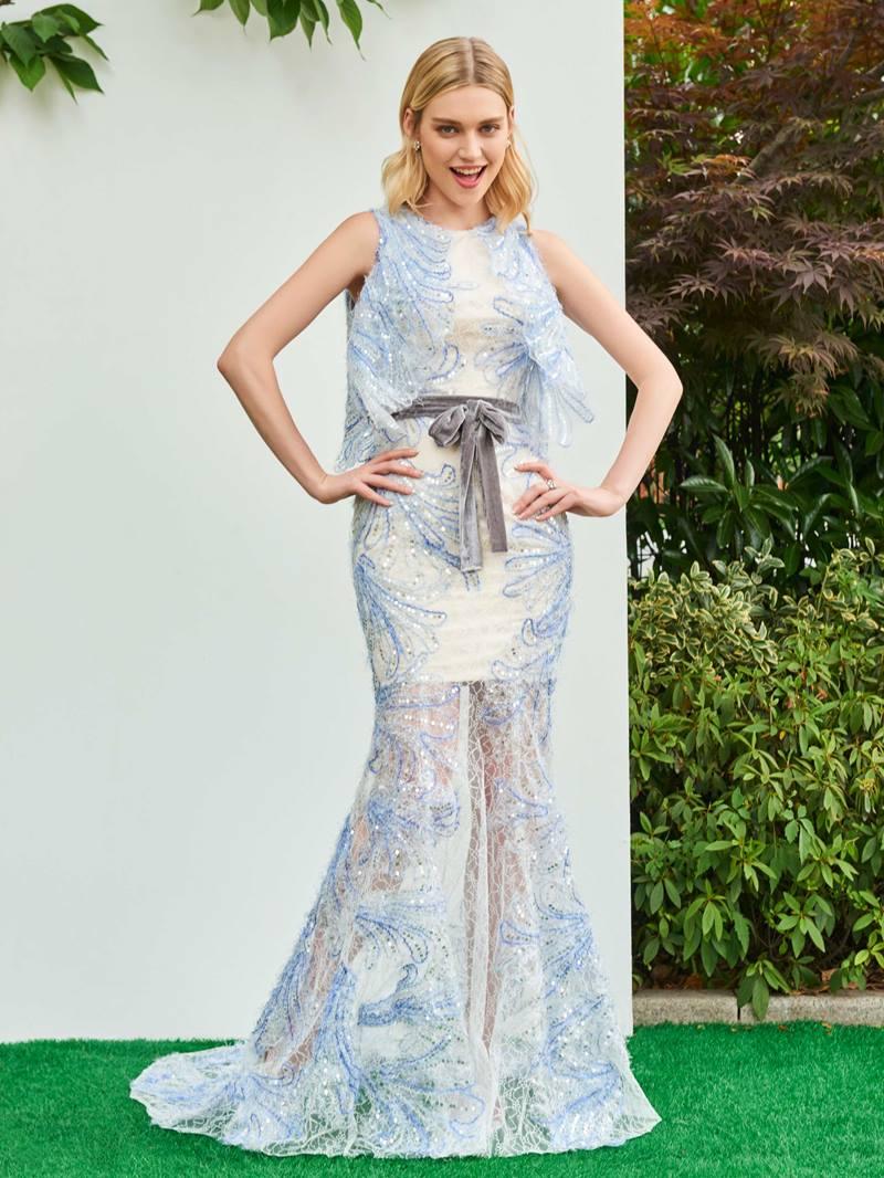 Ericdress Scoop Neck Parent-Child Mermaid Evening Dress
