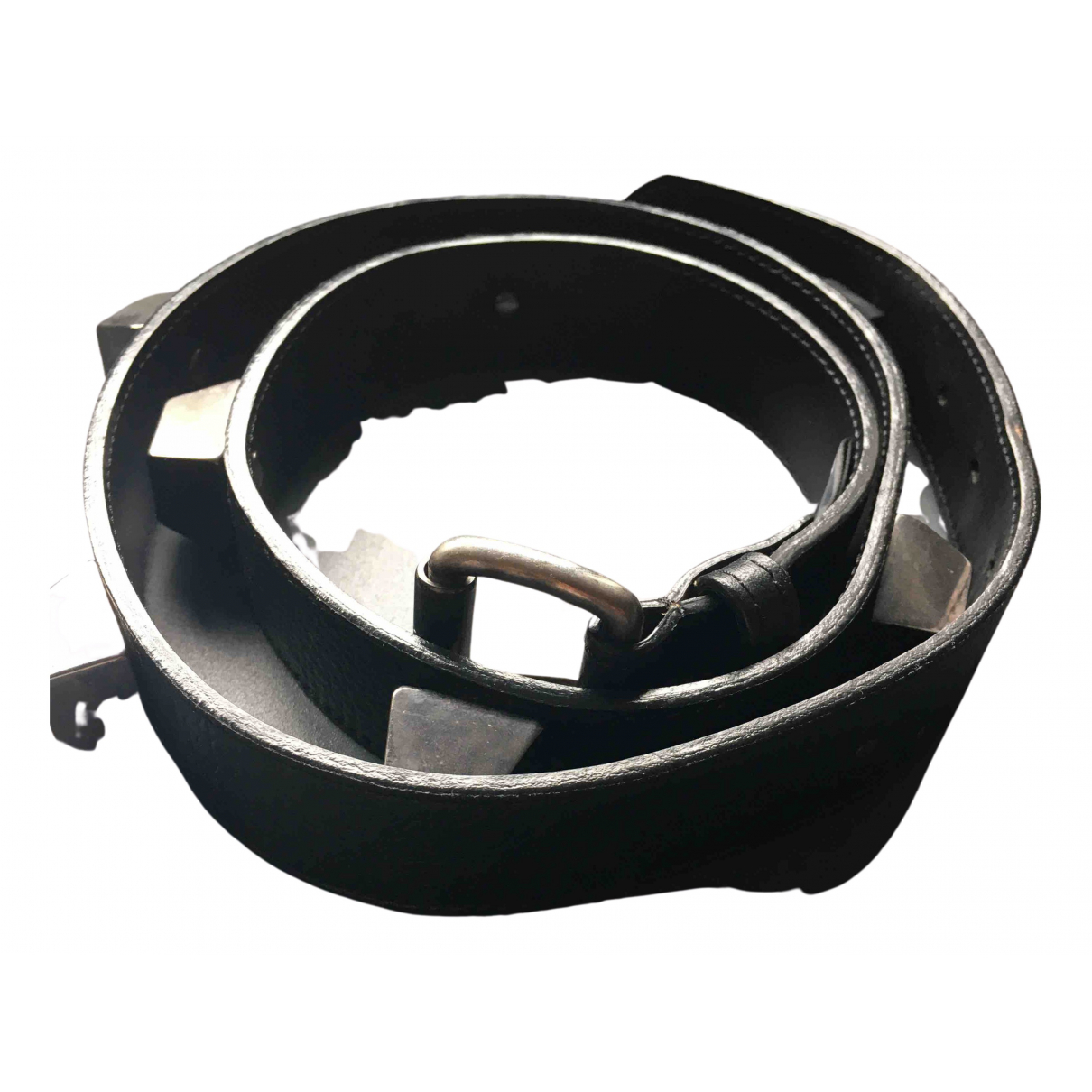 Cnc N Black Leather belt for Women S International