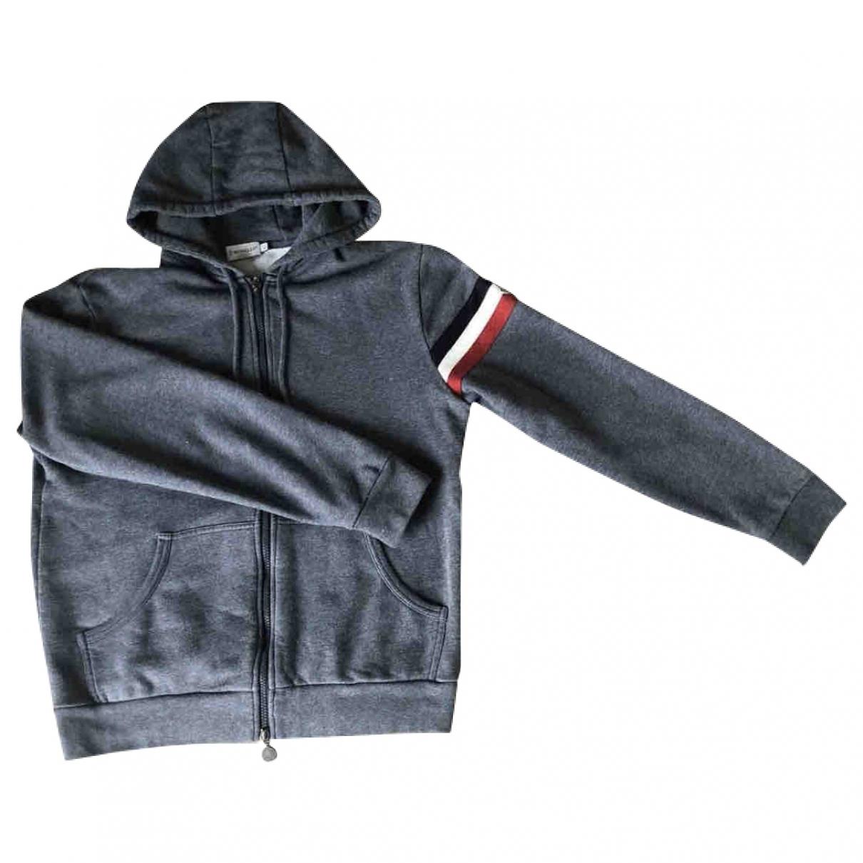 Moncler \N Pullover.Westen.Sweatshirts  in  Grau Baumwolle