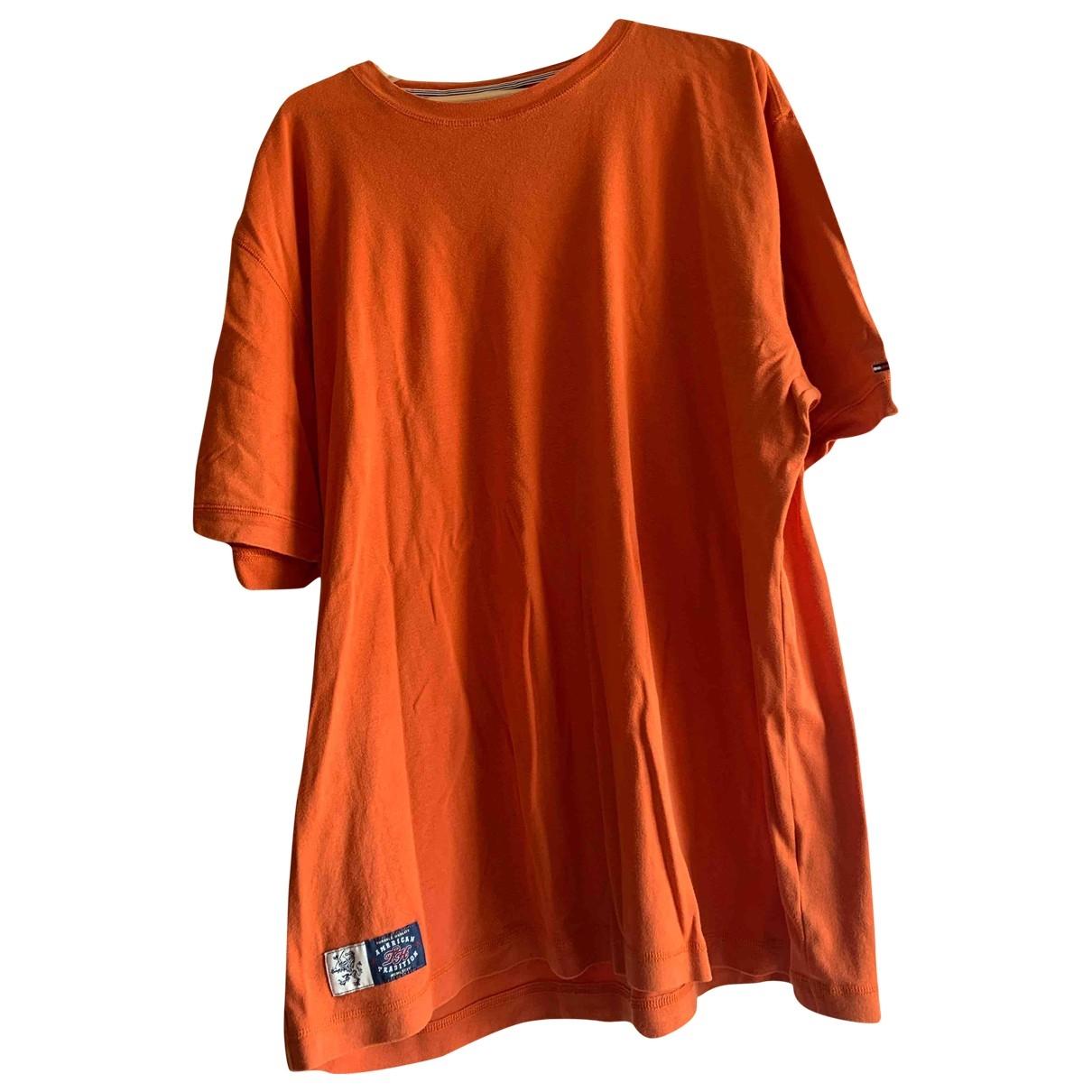 Tommy Hilfiger \N T-Shirts in  Orange Baumwolle