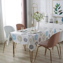 Graphic Print Tablecloth