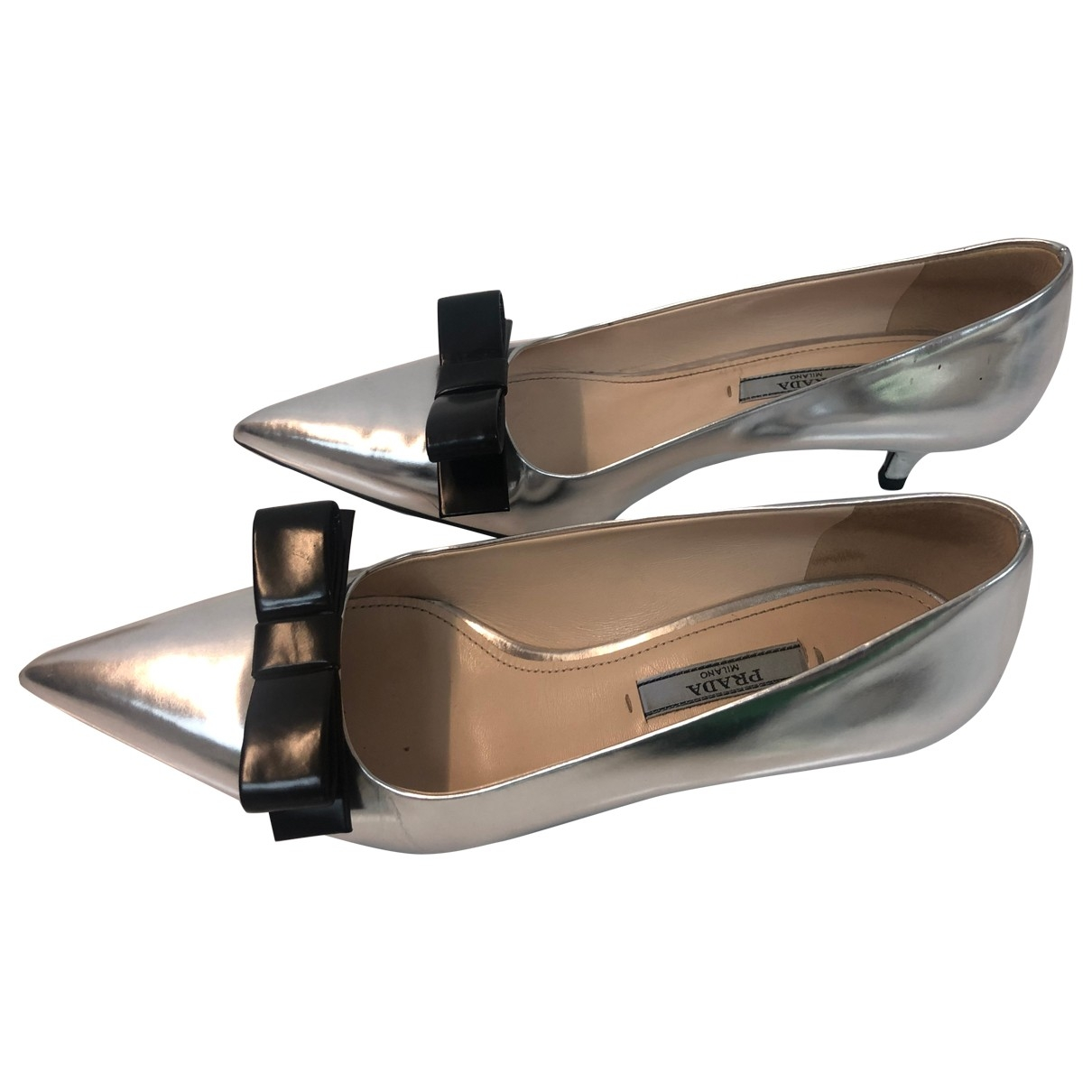 Prada \N Metallic Patent leather Heels for Women 36 EU