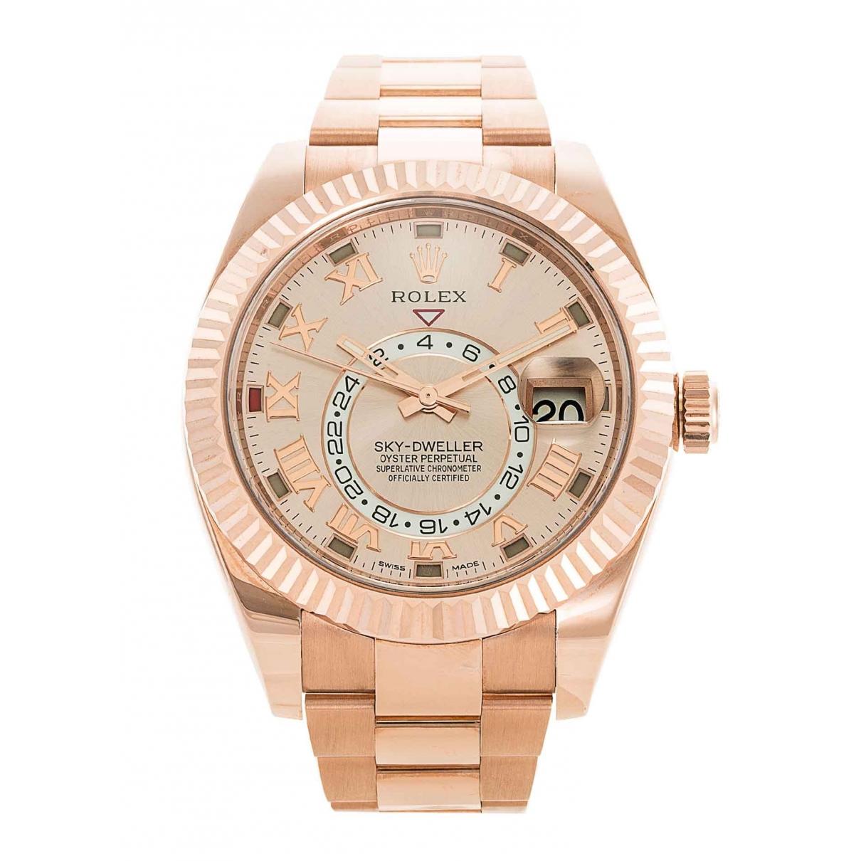 Rolex Sky-Dweller Khaki Pink gold watch for Men \N