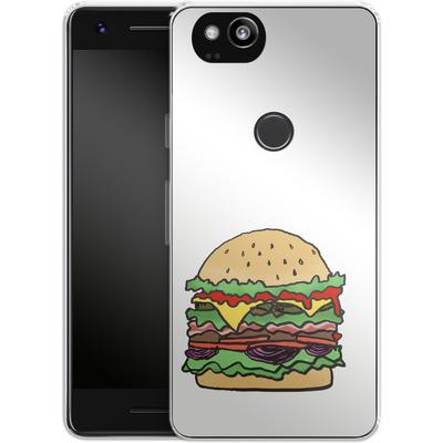 Google Pixel 2 Silikon Handyhuelle - Burger von caseable Designs