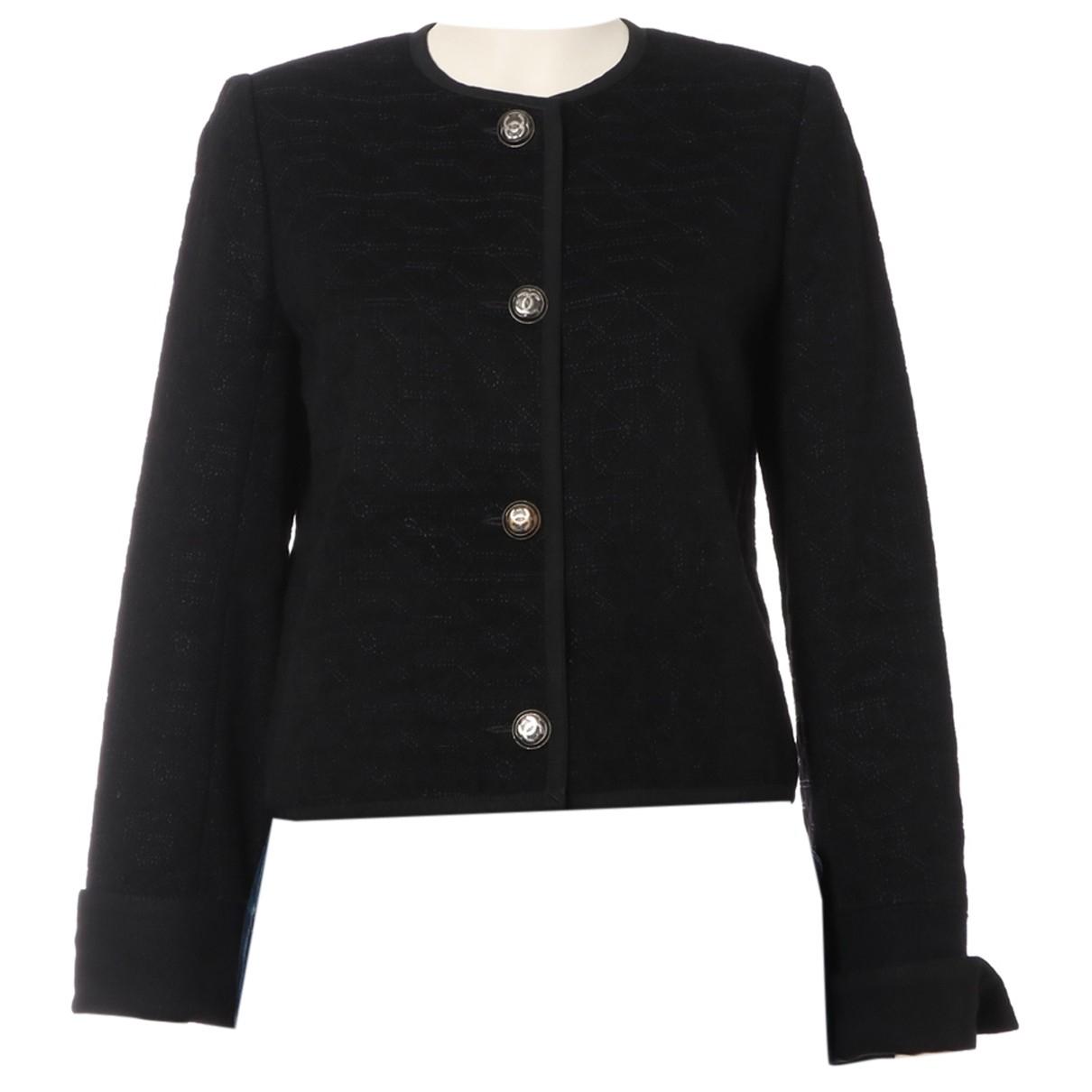 Chanel N Black Wool jacket for Women 34 FR