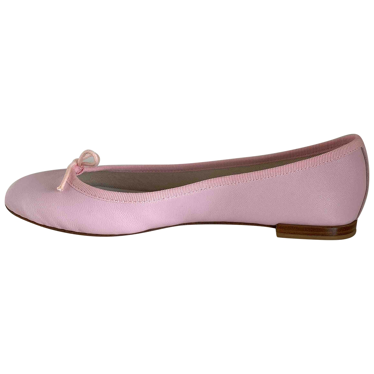 Repetto \N Pink Leather Ballet flats for Women 38 EU