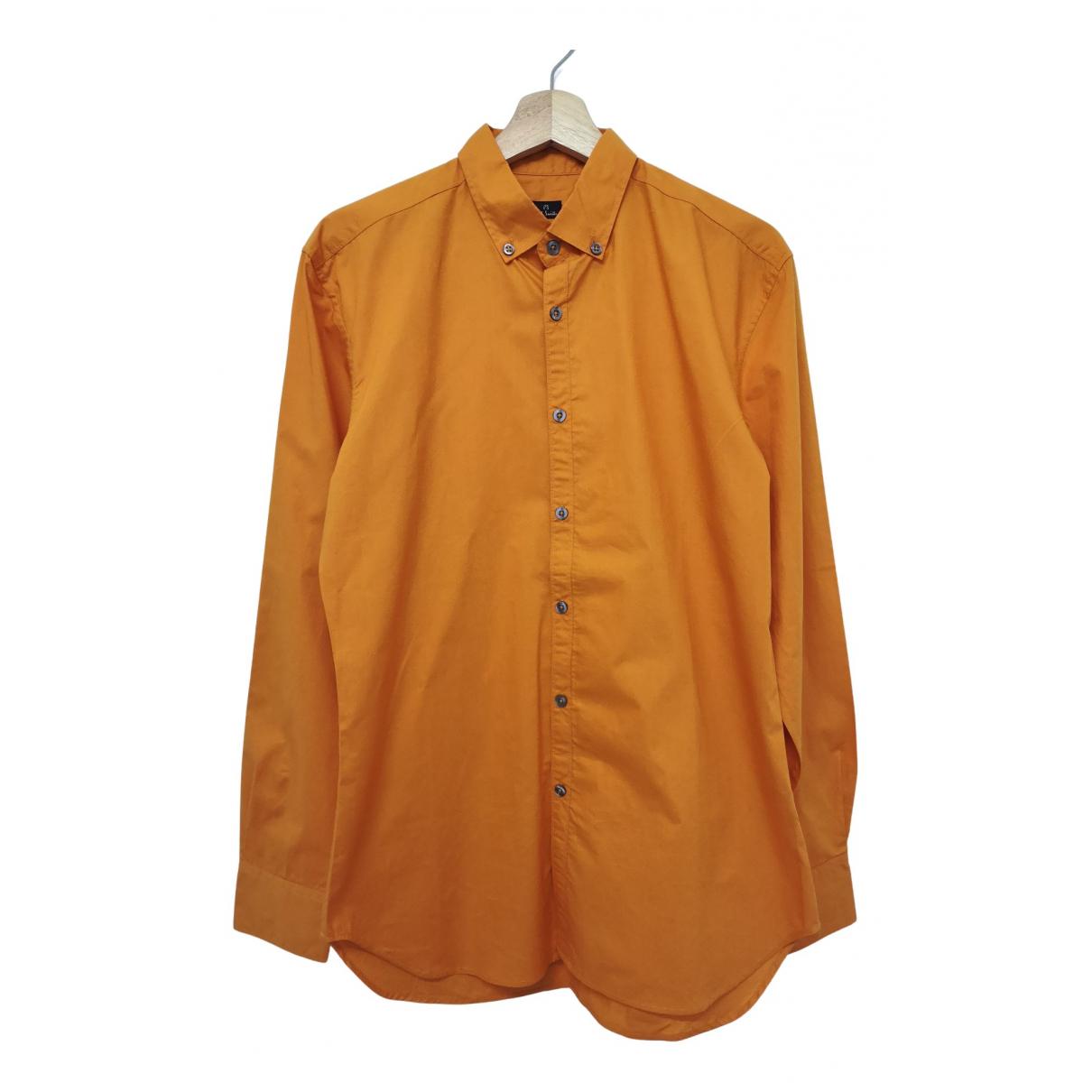 Paul Smith - Chemises   pour homme en coton - orange