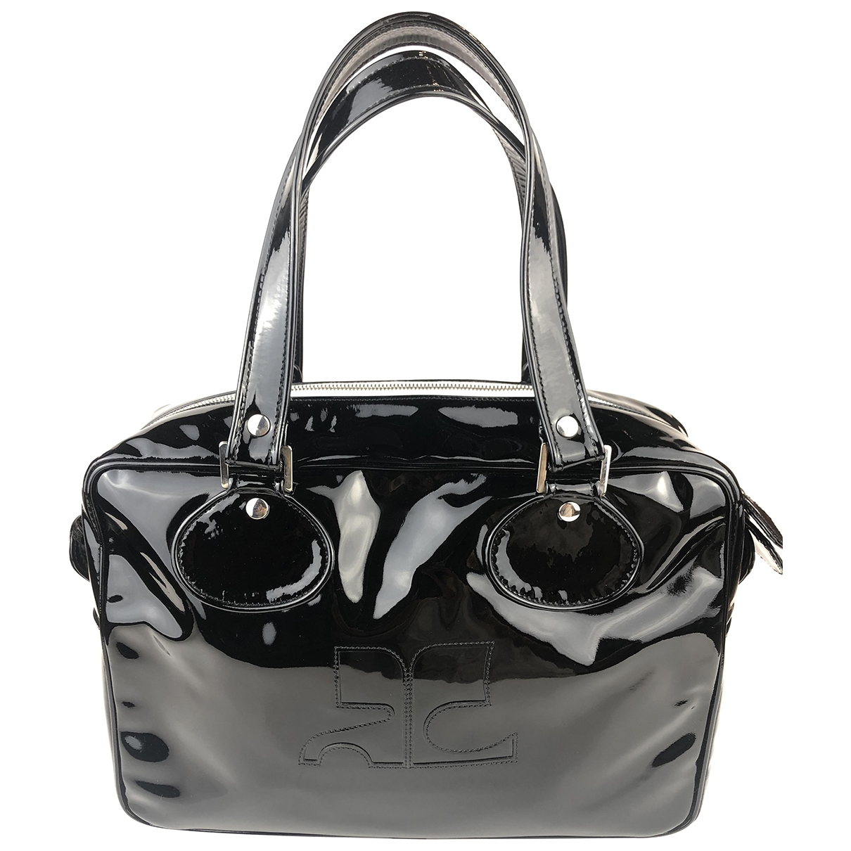 Courrèges \N Black Patent leather handbag for Women \N