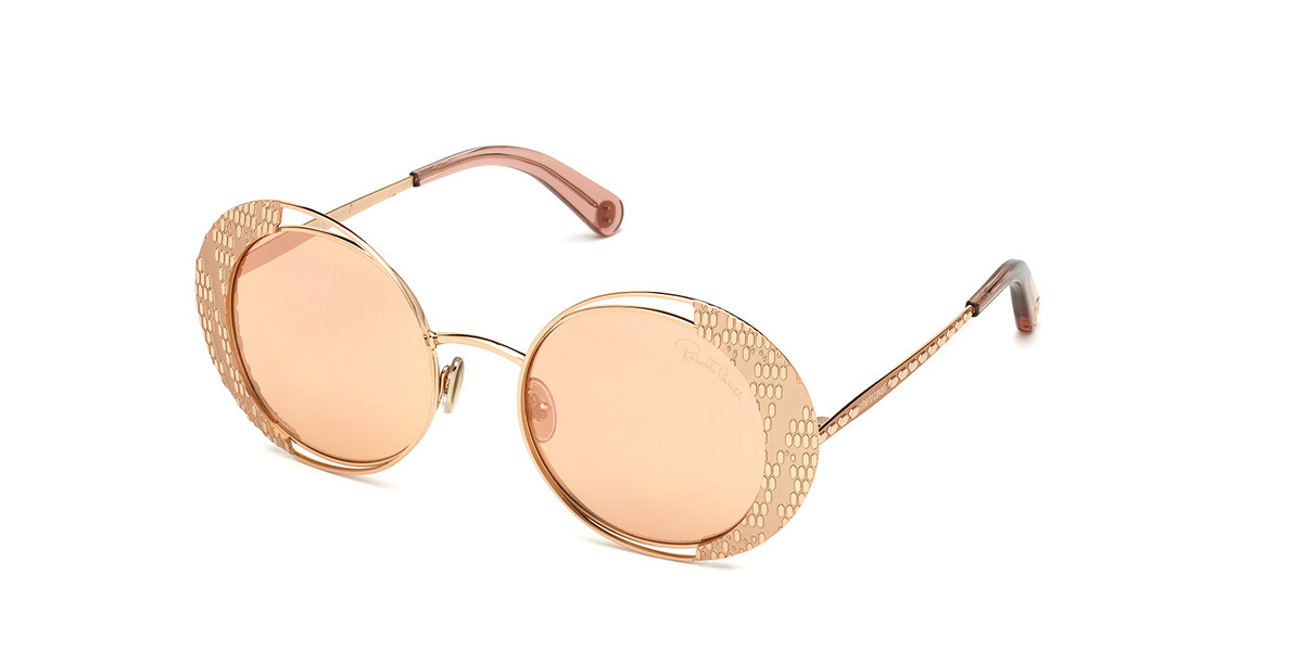 Roberto Cavalli RC 1126 33G Women's Sunglasses Gold Size 53