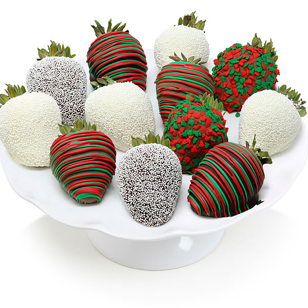 Holiday Chocolate Dipped Strawberries