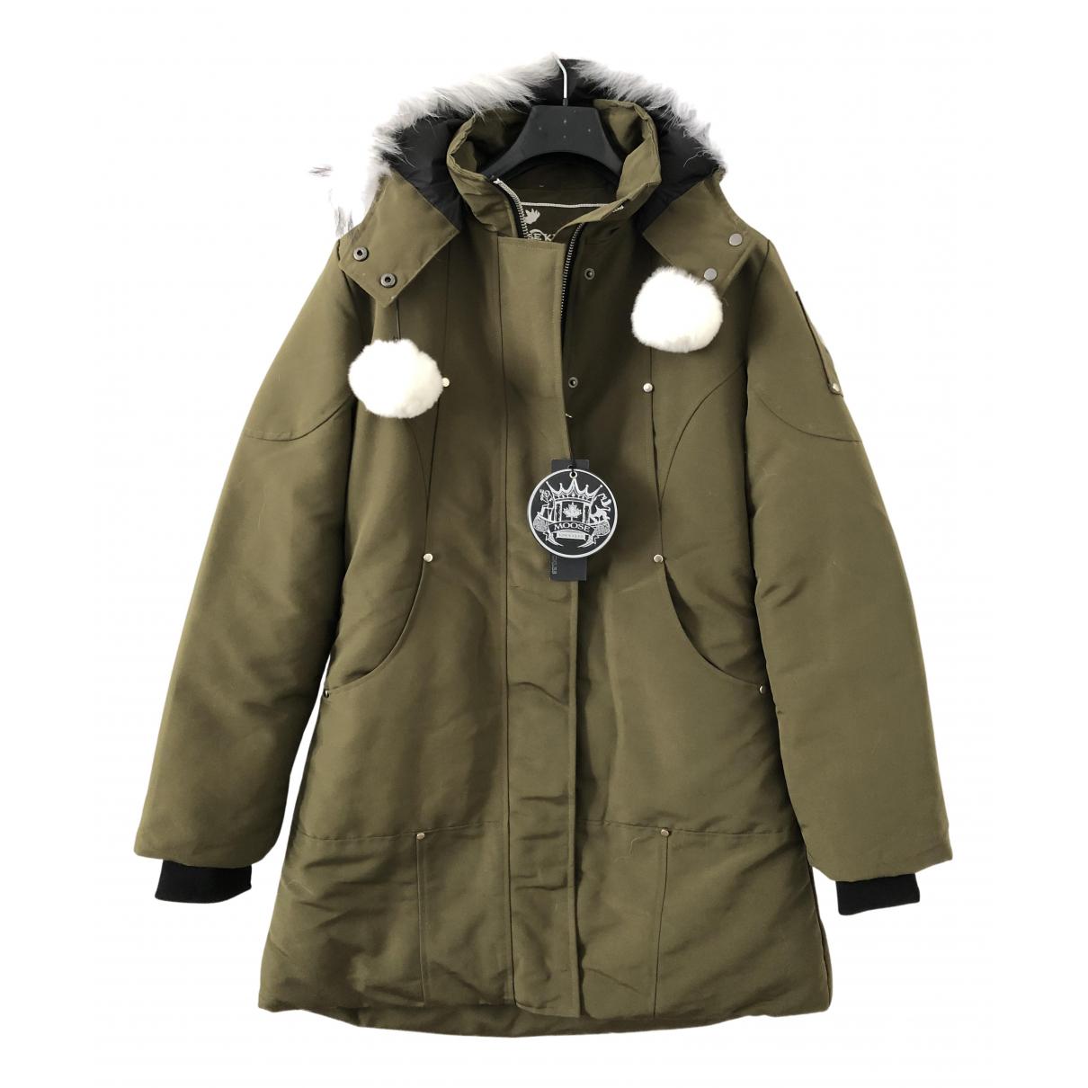 Moose Knuckles - Manteau   pour femme en lapin - kaki