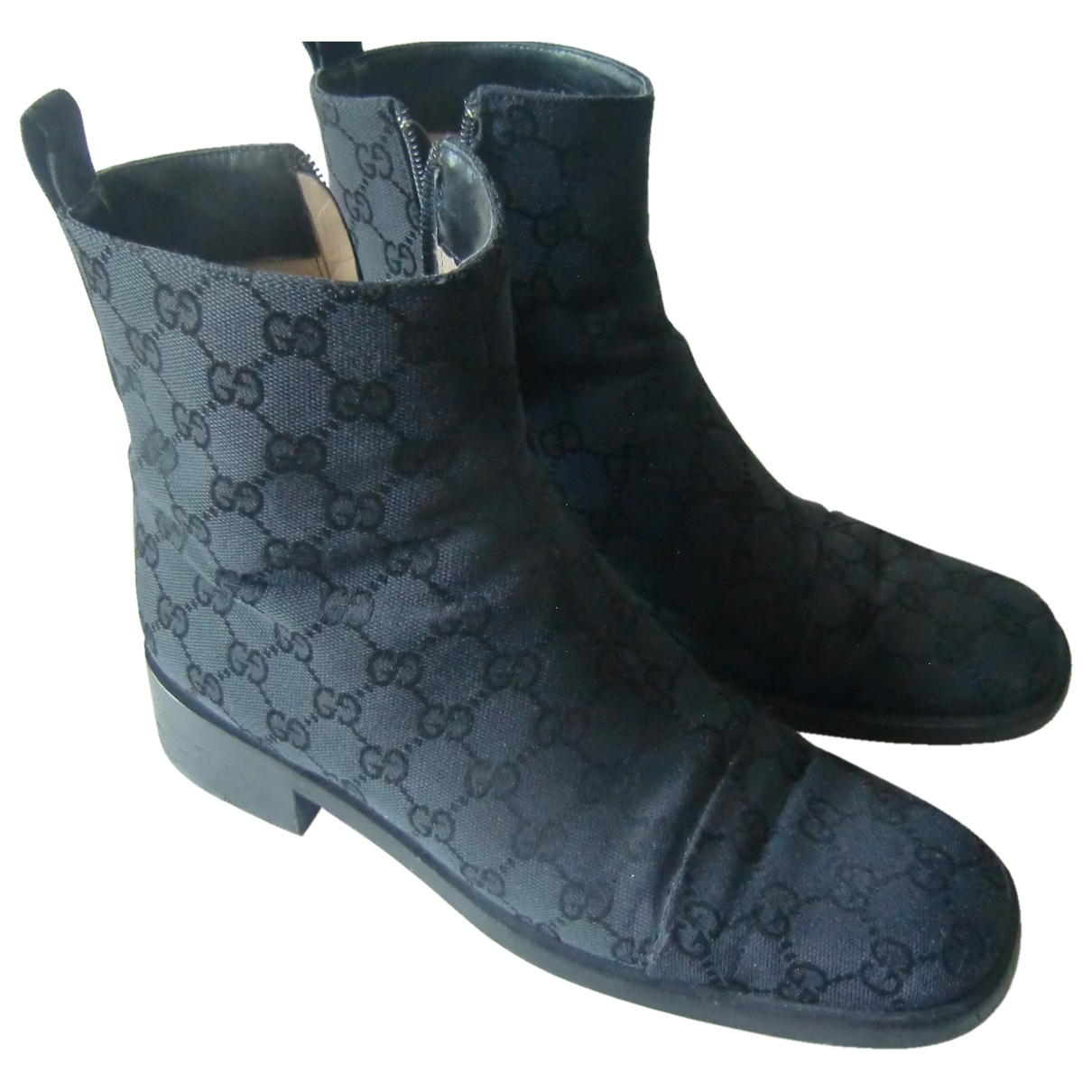 Gucci \N Black Cloth Ankle boots for Women 8 US