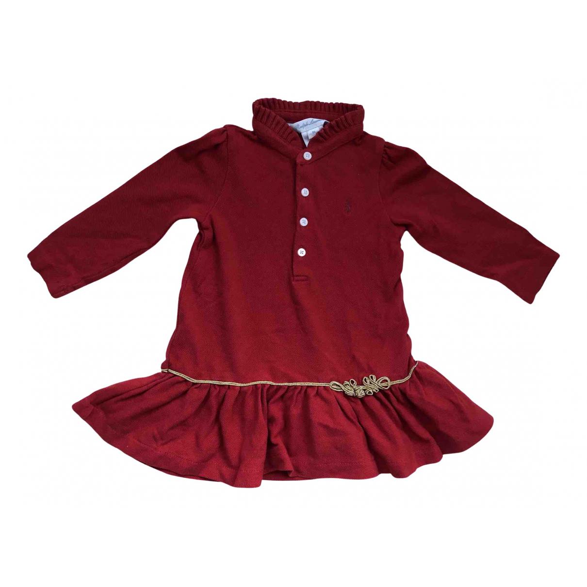 Ralph Lauren \N Kleid in  Rot Baumwolle