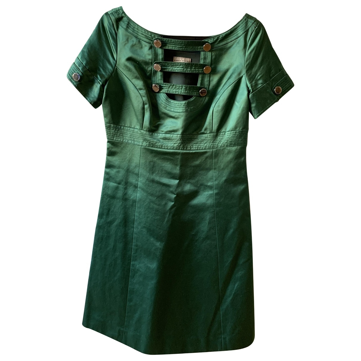Karen Millen \N Green Silk dress for Women 8 UK
