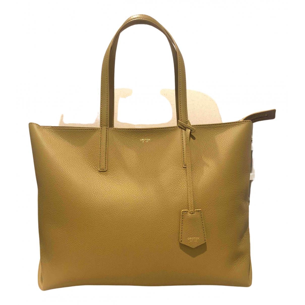 Oroton \N Handtasche in  Khaki Leder