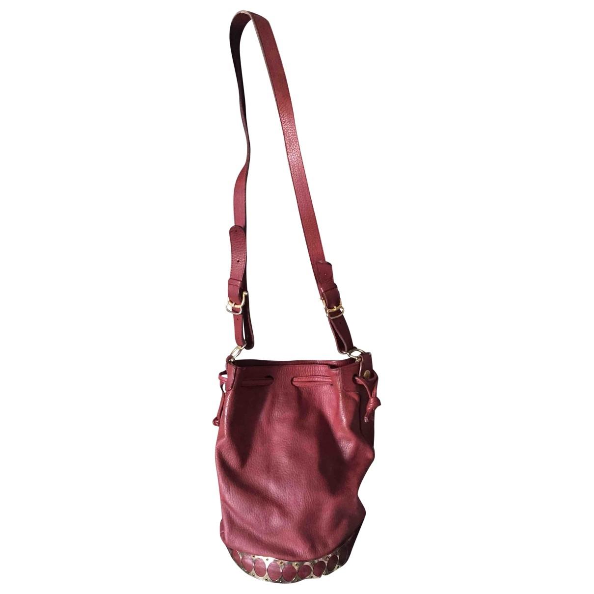Pollini \N Handtasche in  Bordeauxrot Leder