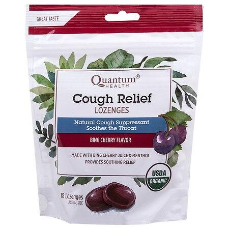 Quantum Health Cough Relief Lozenges Bing Cherry Bing Cherry - 18.0 ea
