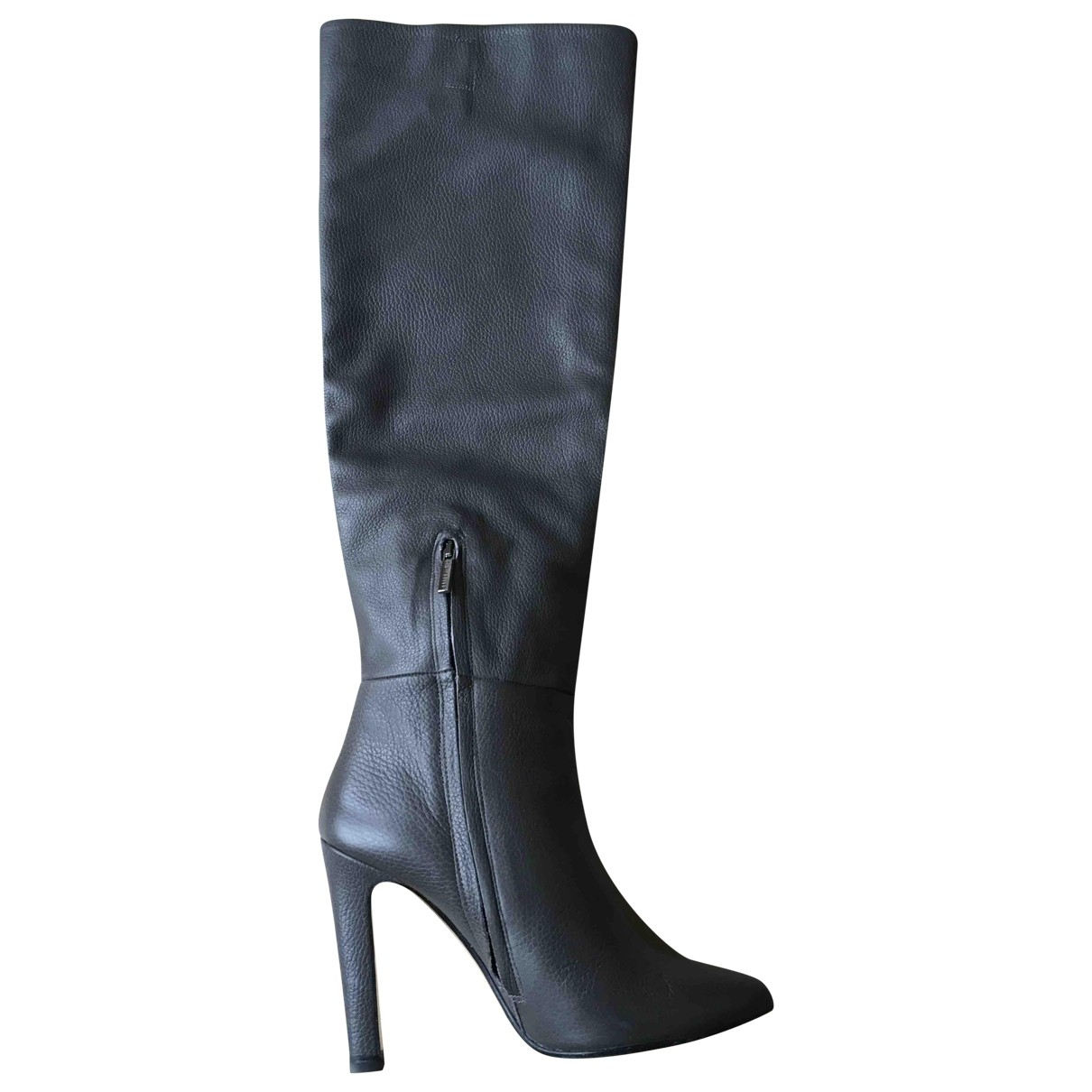 Non Signé / Unsigned \N Grey Leather Boots for Women 40 IT