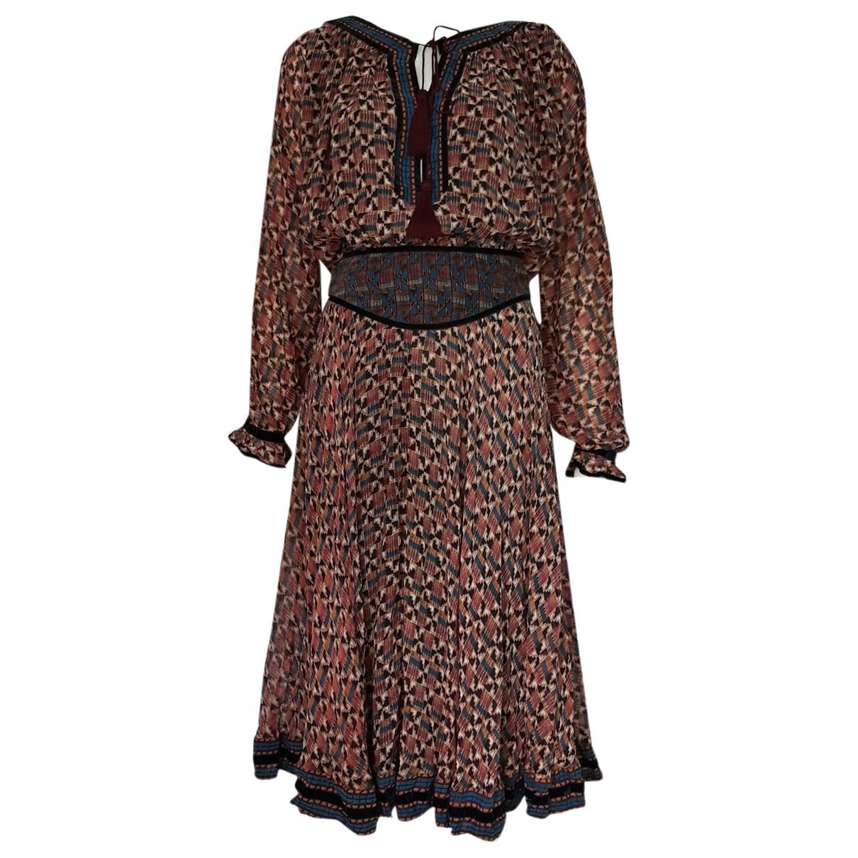 Talitha - Robe   pour femme en soie - multicolore