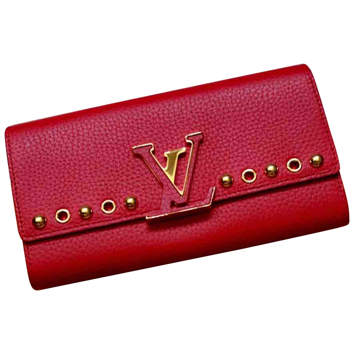 Louis Vuitton Capucines Red Leather wallet for Women \N