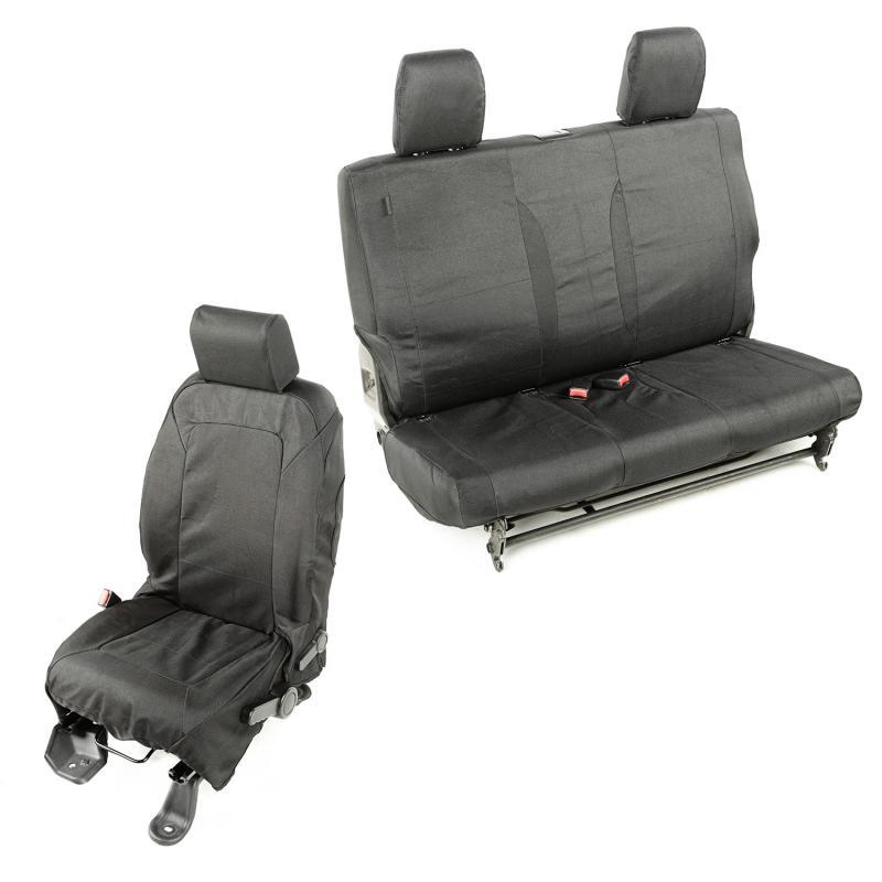 Rugged Ridge 13256.01 Elite Ballistic Seat Cover Kit; 07-10 Jeep Wrangler JK, 2 Door Jeep Wrangler 2007-2010