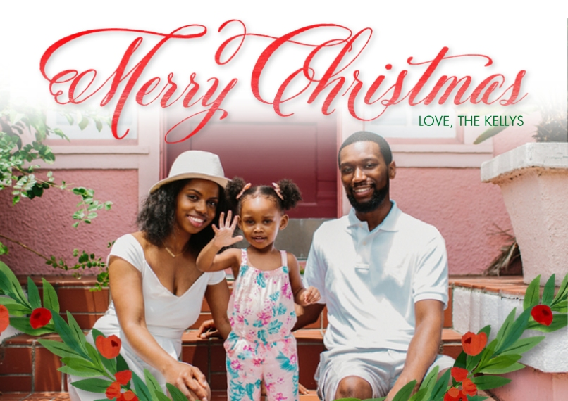 Christmas Photo Cards 5x7 Cards, Premium Cardstock 120lb, Card & Stationery -Shining Christmas